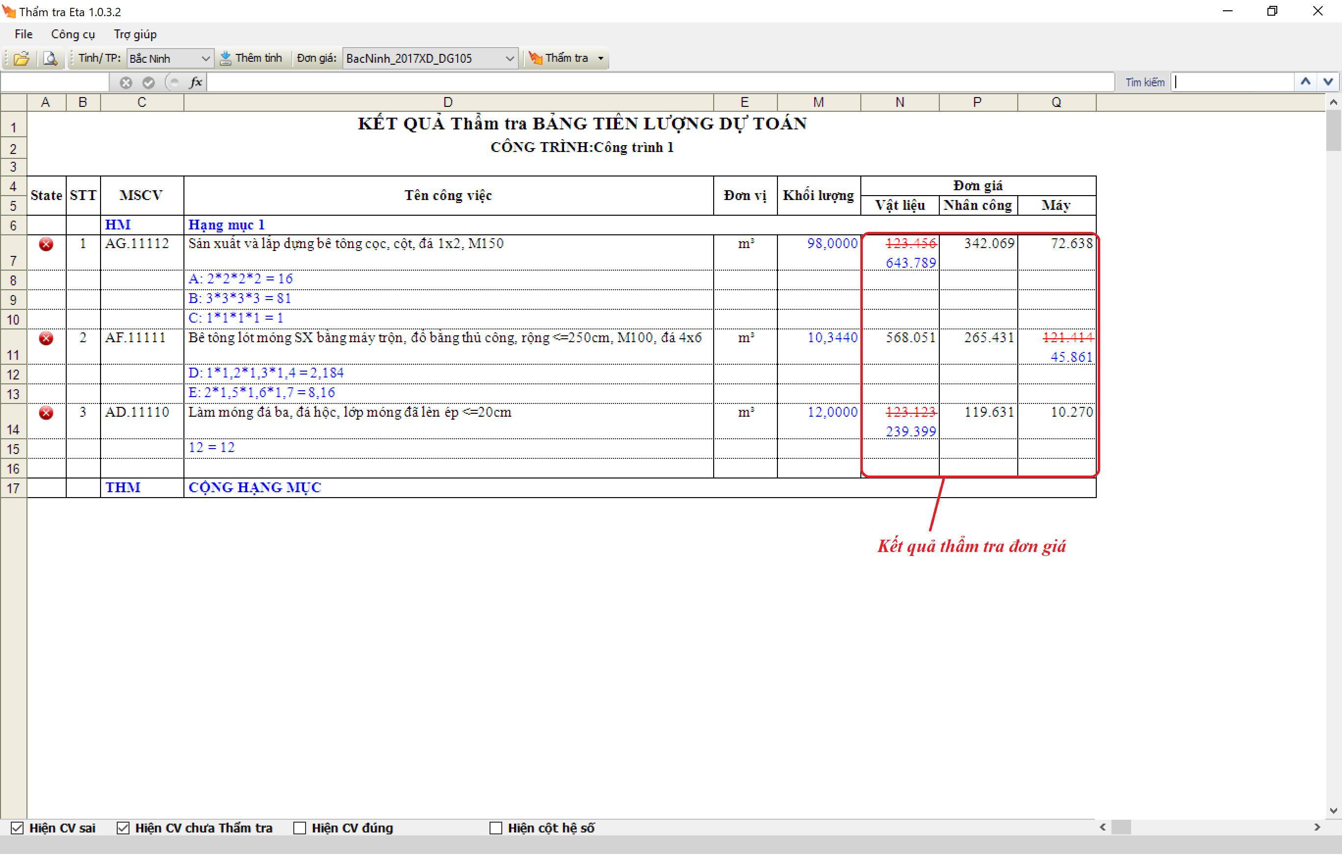 Phần mềm Dự toán Dự thầu Eta