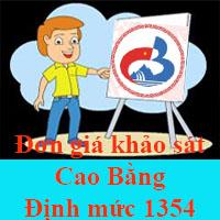 Đơn giá khảo sát Cao Bằng theo Định mức 1354