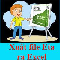 Xuất file phần mềm dự toán Eta ra Excel