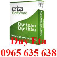 Phần mềm Dự toán Eta miễn phí năm 2018
