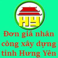Đơn giá nhân công xây dựng tỉnh Hưng Yên