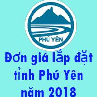 Đơn giá lắp đặt tỉnh Phú Yên năm 2018