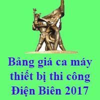 Bảng giá ca máy thi công tỉnh Điện Biên