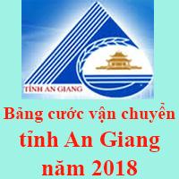Bảng cước vận chuyển tỉnh An Giang năm 2018