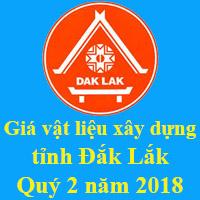 Giá VLXD tỉnh Đắk Lắk tháng 7 năm 2018