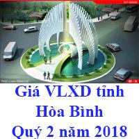 Giá vlxd tỉnh Hòa Bình Quý 2 năm 2018