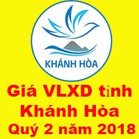 Giá VLXD tỉnh Khánh Hòa quý 2 năm 2018