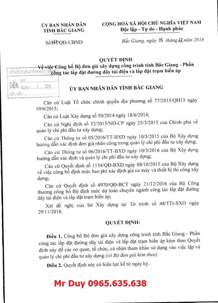 Quyết định 767/QĐ-UBND tỉnh Bắc Giang