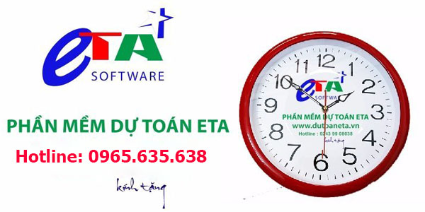 Mua phần mềm dự toán Eta 2019