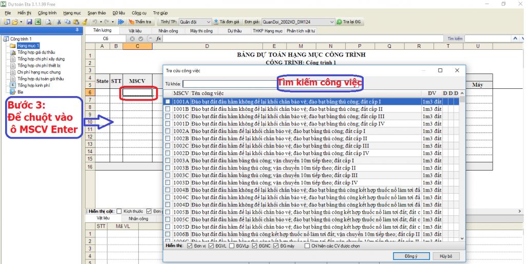 File dự toán công trình quân đội