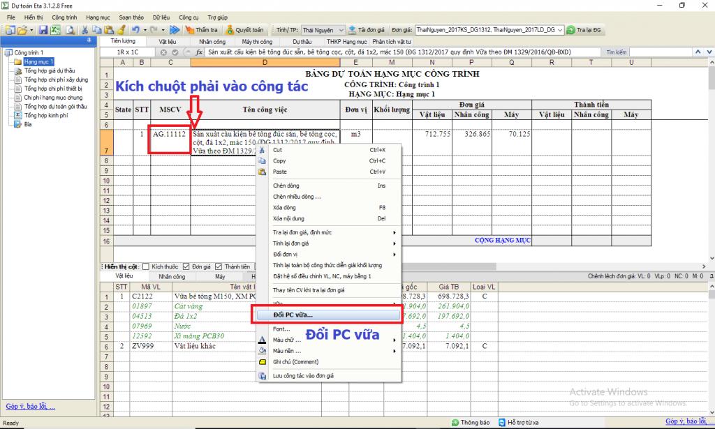 Hướng dẫn sử dụng vữa theo Quyết định 1329/QĐ-BXD
