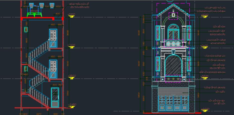 mẫu dự toán nhà phố