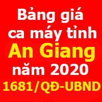 Bảng giá ca máy tỉnh An Giang năm 2020