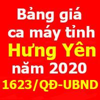 Quyết định 1623/QĐ-UBND Bảng giá ca máy tỉnh Hưng Yên