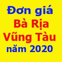 Đơn giá XDCT tỉnh Bà Rịa Vũng Tàu năm 2020 ngày 14/7/2020