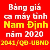 Quyết định 2041/QĐ-UBND Bảng giá ca máy tỉnh Nam Định