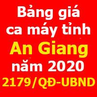 Bảng giá ca máy tỉnh An Giang năm 2020 theo Quyết định 2179/QĐ-UBND