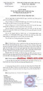 Bảng giá ca máy tỉnh Phú Yên năm 2020