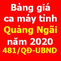 Quyết định 481/QĐ-UBND Bảng giá ca máy tỉnh Quảng Ngãi 2020