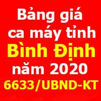 Bảng giá ca máy tỉnh Đắk Lắk 2020 theo Công văn 2658/SXD-KTVLXD