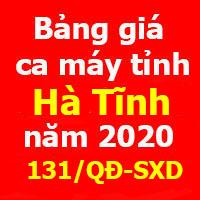 Bảng giá ca máy tỉnh Hà Tĩnh Quyết định 131/QĐ-SXD