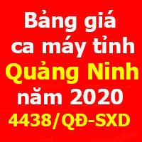 Bảng giá ca máy Quảng Ninh năm 2020