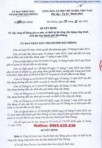Bảng giá ca máy Hải Phòng năm 2020 Quyết định 3727/QĐ-UBND