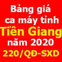 Quyết định 220/QĐ-SXD Bảng giá ca máy tỉnh Tiền Giang