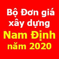 Bộ Đơn giá xây dựng công trình tỉnh Nam Định năm 2020