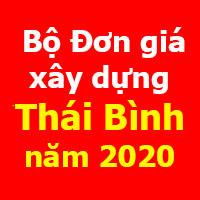 Đơn giá xây dựng tỉnh Thái Bình năm 2020