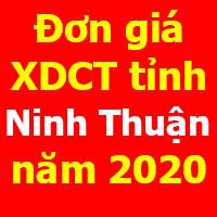 Đơn giá xây dựng công trình tỉnh Ninh Thuận năm 2020