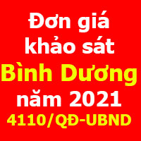 Đơn giá Khảo sát tỉnh Bình Dương quyết định 4110/QĐ-UBND 31/12/2020