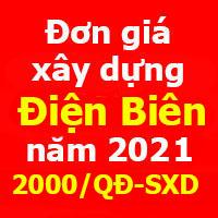Đơn giá xây dựng tỉnh Điện Biên Quyết định 2000/QĐ-SXD