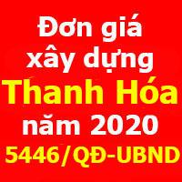 Đơn giá xây dựng tỉnh Thanh Hóa năm 2020 - Quyết định 5446/QĐ-UBND