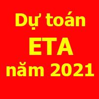 dự toán eta năm 2021