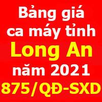 Bảng giá ca máy tỉnh Long An năm 2021