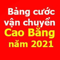 giá cước vận chuyển tỉnh Cao Bằng năm 2021