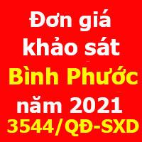 Đơn giá Khảo sát tỉnh Bình Phước năm 2021 theo Quyết định 3544/QĐ-SXD