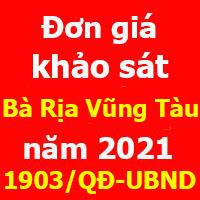 Quyết định 1903/QĐ-UBNDĐơn giá khảo sát tỉnh Bà Rịa Vũng Tàu năm 2021