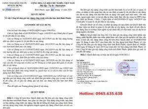 Đơn giá khảo sát tỉnh Bình Phước năm 2021