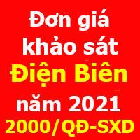 Đơn giá khảo sát tỉnh Điện Biên năm 2021
