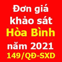 Đơn giá khảo sát tỉnh Hòa Bình năm 2021 Quyết định 149/QĐ-SXD