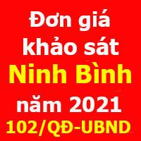 Đơn giá khảo sát tỉnh Ninh Bình năm 2021