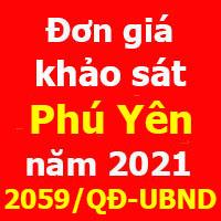 Đơn giá khảo sát tỉnh Phú Yên quyết định 2059/QĐ-UBND