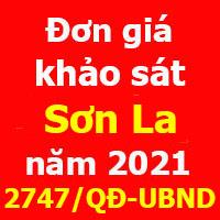 Đơn giá khảo sát tỉnh Sơn La năm 2021