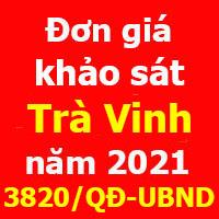 Đơn giá khảo sát tỉnh Trà Vinh Quyết định 3820/QĐ-UBND