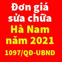 Đơn giá sửa chữa tỉnh Hà Nam Quyết định 1097/QĐ-UBND