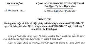 thông tư 10/2021/TT-BXD