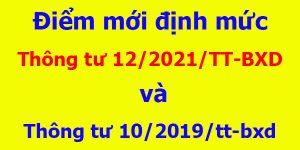 Điểm mới Thông tư 12/2021/TT-BXD