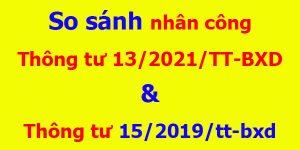 Điểm mới Thông tư 13/2021/TT-BXD đơn giá nhân công